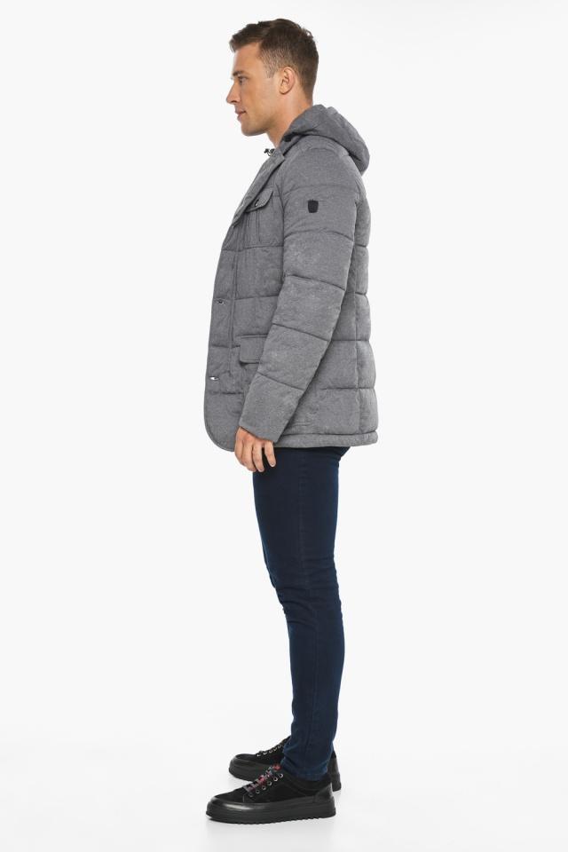 """Куртка – воздуховик мужской пепельный зимний модель 35230 Braggart """"Angel's Fluff Man"""" фото 8"""