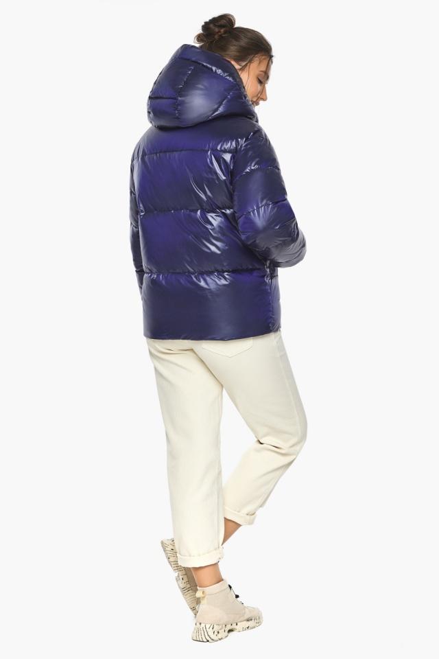 """Куртка синяя короткая зимняя женская модель 44520 Braggart """"Angel's Fluff"""" фото 5"""