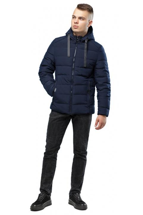 Зимняя куртка с капюшоном мужская цвет темно-синий модель 6008 Kiro Tokao – Ajento фото 1