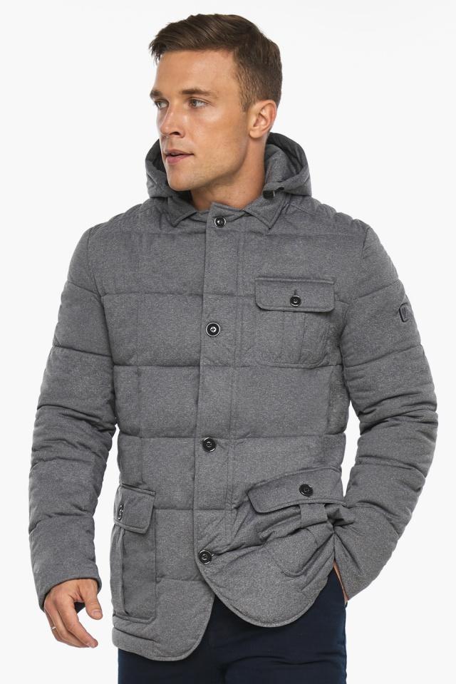 """Куртка – воздуховик мужской пепельный зимний модель 35230 Braggart """"Angel's Fluff Man"""" фото 4"""