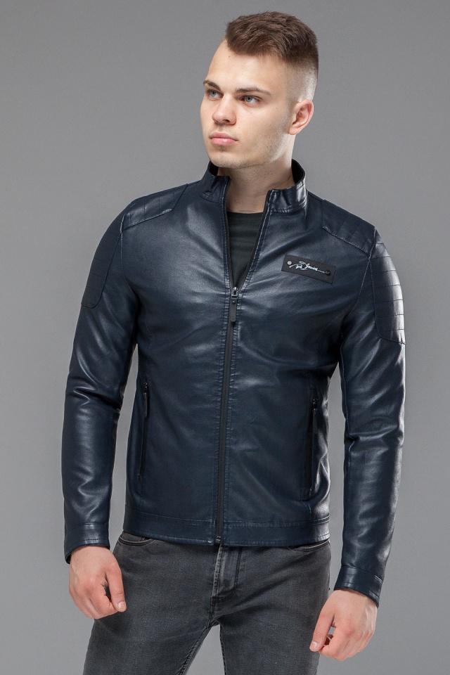 """Темно-синяя куртка короткая осенне-весенняя для мужчин модель 36361 Braggart """"Youth"""" фото 4"""