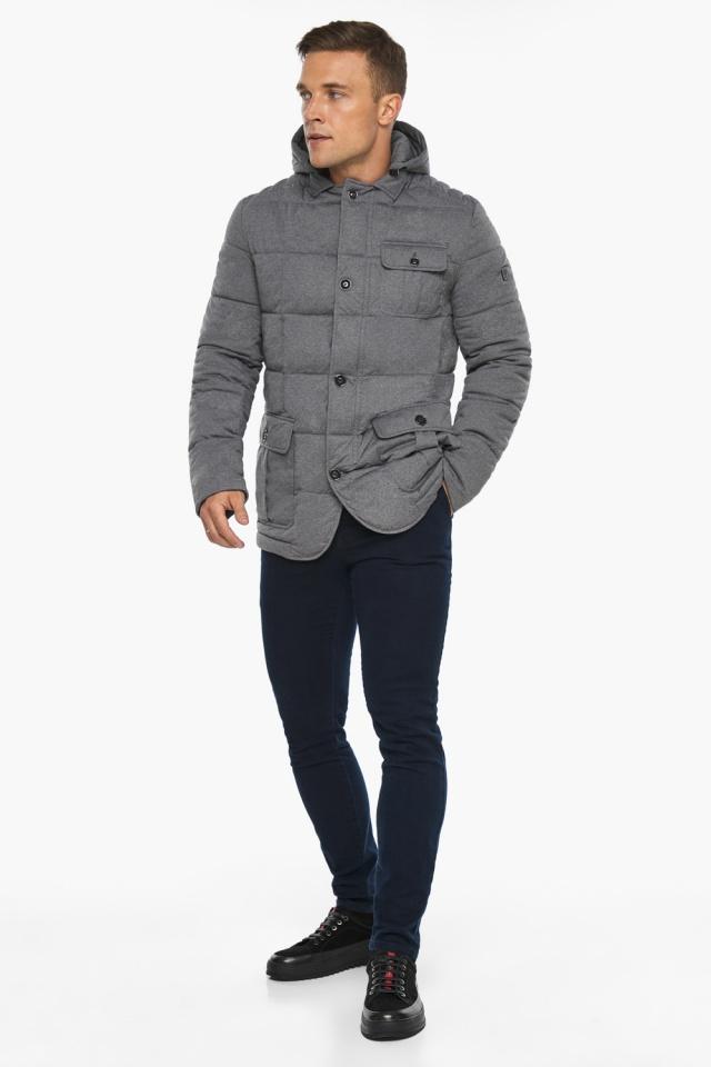 """Куртка – воздуховик мужской пепельный зимний модель 35230 Braggart """"Angel's Fluff Man"""" фото 6"""