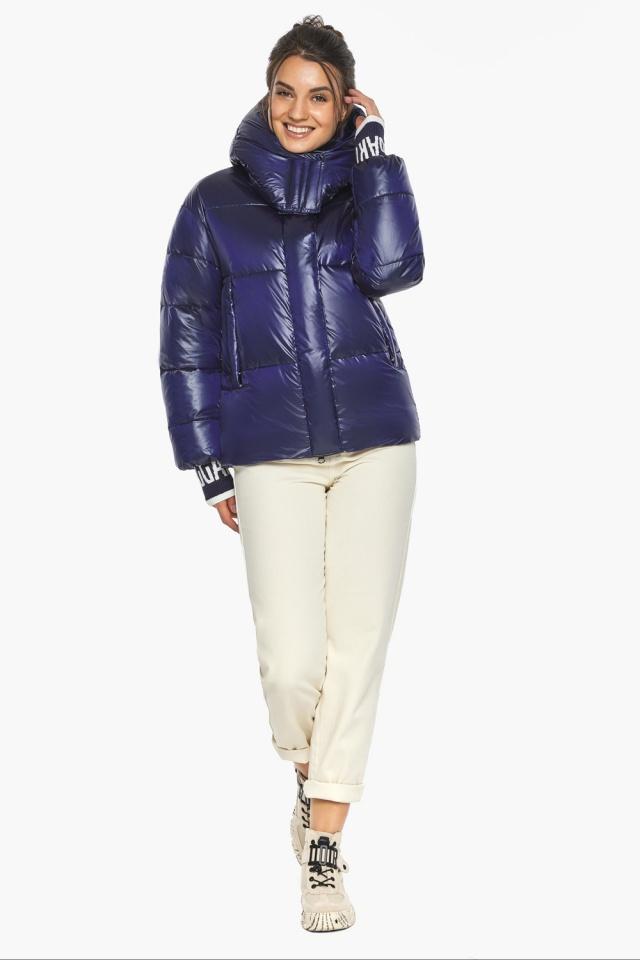 """Куртка синяя короткая зимняя женская модель 44520 Braggart """"Angel's Fluff"""" фото 2"""