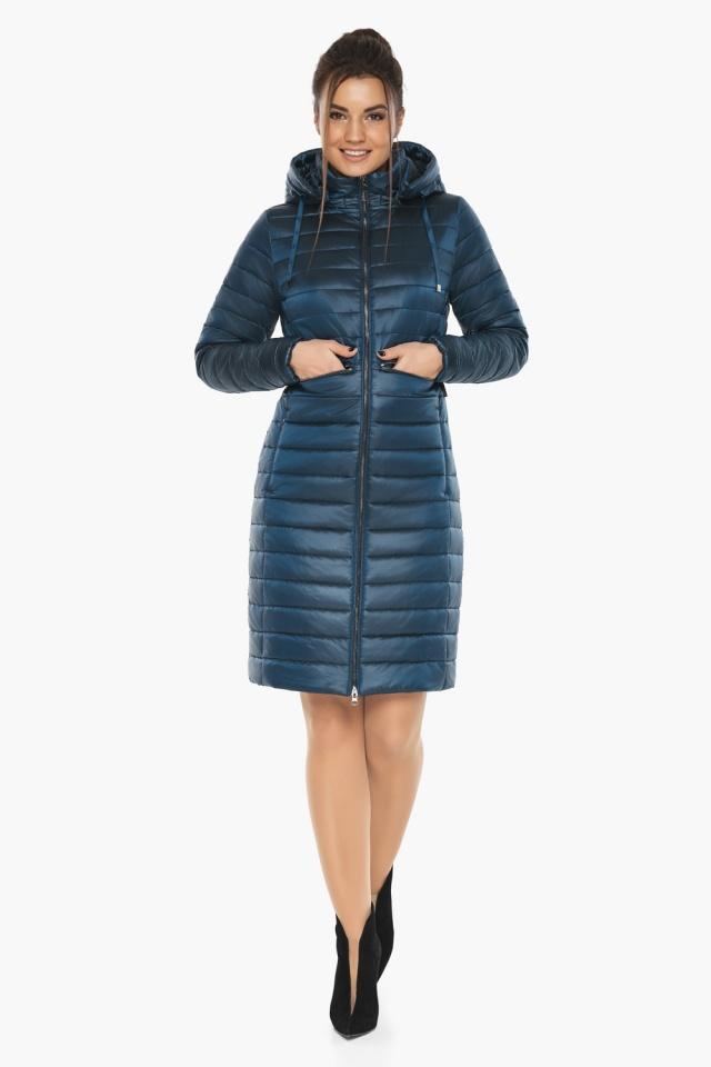 """Удобная женская куртка осенне-весенняя цвет тёмная лазурь модель 68410 Braggart """"Angel's Fluff"""" фото 2"""
