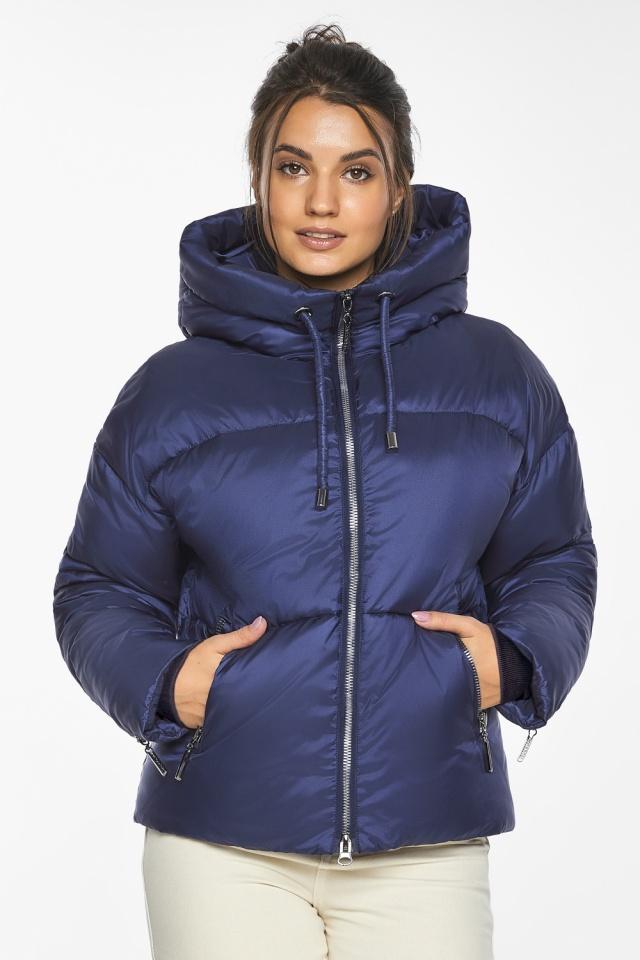 """Куртка на змейке женская цвет синий бархат модель 46280 Braggart """"Angel's Fluff"""" фото 6"""