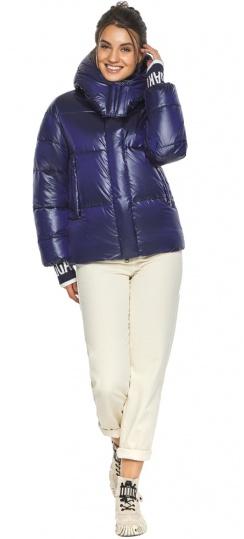 """Куртка синяя короткая зимняя женская модель 44520 Braggart """"Angel's Fluff"""" фото 1"""