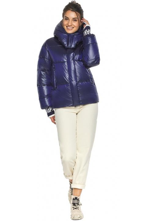 """Куртка синя коротка зимова жіноча модель 44520 Braggart """"Angel's Fluff"""" фото 1"""