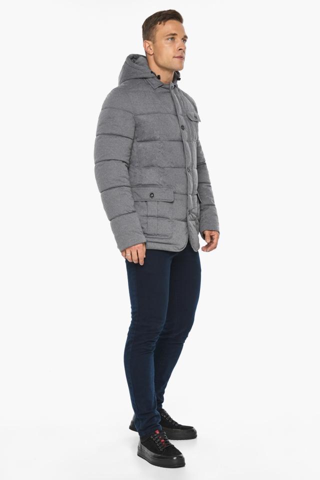 """Куртка – воздуховик мужской пепельный зимний модель 35230 Braggart """"Angel's Fluff Man"""" фото 5"""