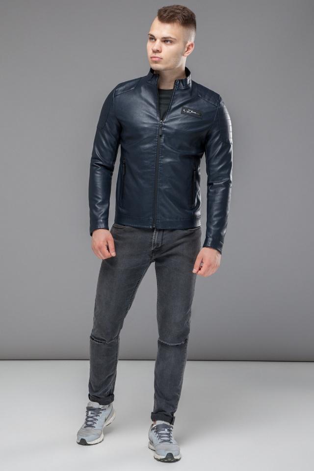 """Темно-синяя куртка короткая осенне-весенняя для мужчин модель 36361 Braggart """"Youth"""" фото 2"""