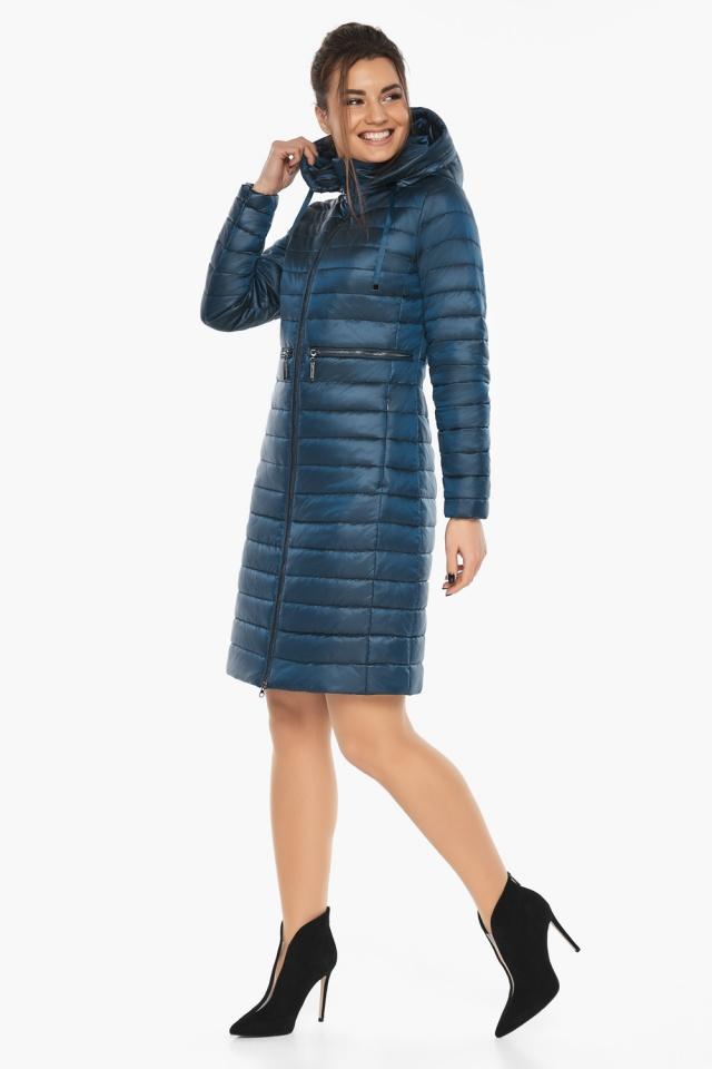 """Удобная женская куртка осенне-весенняя цвет тёмная лазурь модель 68410 Braggart """"Angel's Fluff"""" фото 4"""