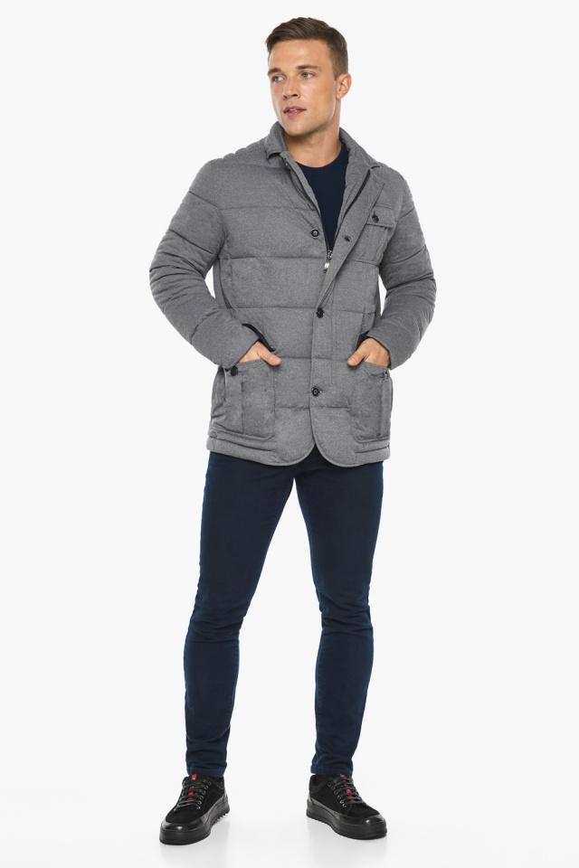 """Куртка – воздуховик мужской пепельный зимний модель 35230 Braggart """"Angel's Fluff Man"""" фото 7"""