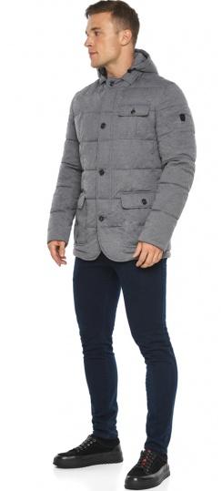 """Куртка – воздуховик мужской пепельный зимний модель 35230 Braggart """"Angel's Fluff Man"""" фото 1"""