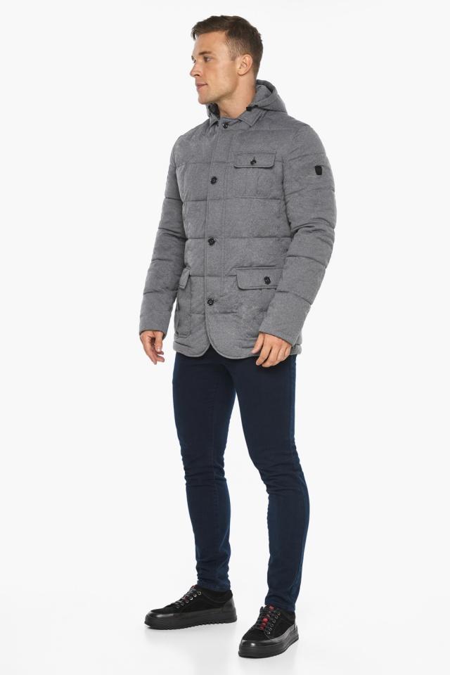 """Куртка – воздуховик мужской пепельный зимний модель 35230 Braggart """"Angel's Fluff Man"""" фото 2"""