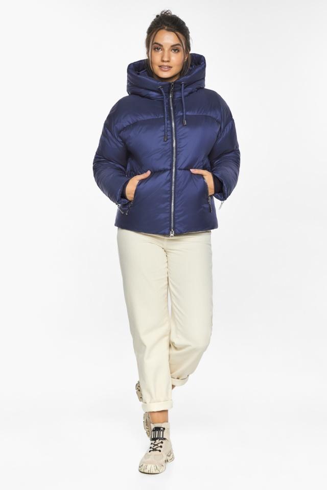 """Куртка на змейке женская цвет синий бархат модель 46280 Braggart """"Angel's Fluff"""" фото 2"""