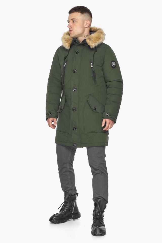 """Куртка – воздуховик практичный мужской зимний цвет хаки модель 30118 Braggart """"Angel's Fluff Man"""" фото 2"""