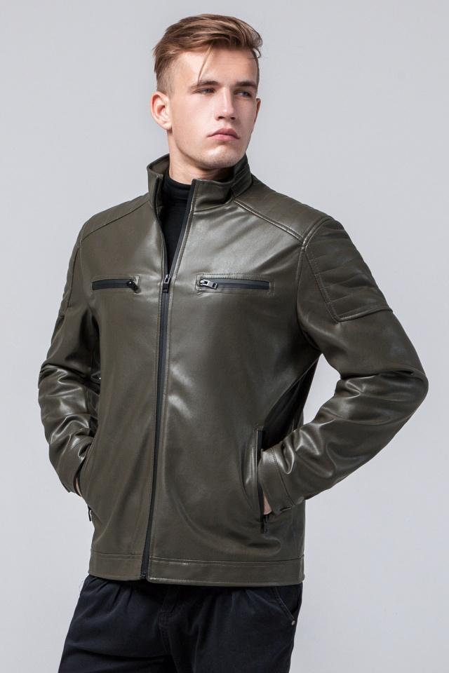 Куртка мужская осенне-весенняя молодежная цвета хаки модель 2612