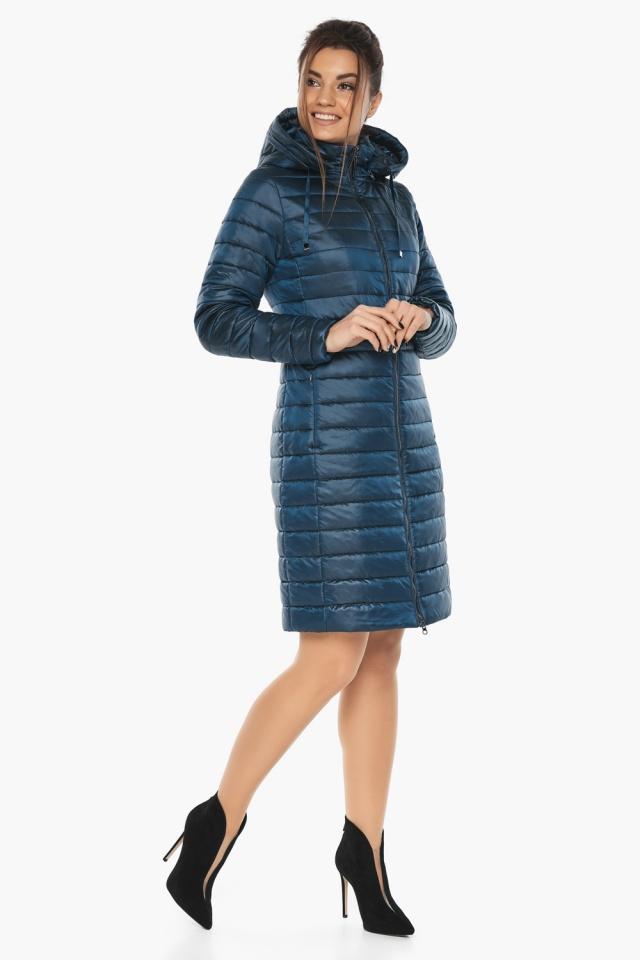 """Удобная женская куртка осенне-весенняя цвет тёмная лазурь модель 68410 Braggart """"Angel's Fluff"""" фото 3"""
