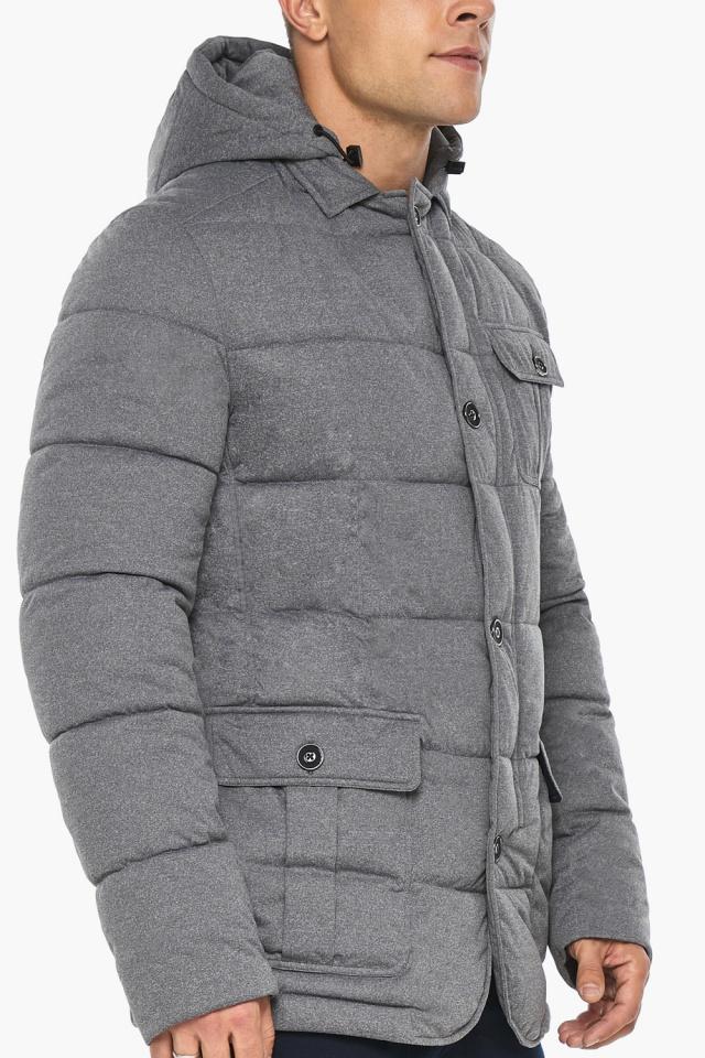 """Куртка – воздуховик мужской пепельный зимний модель 35230 Braggart """"Angel's Fluff Man"""" фото 10"""