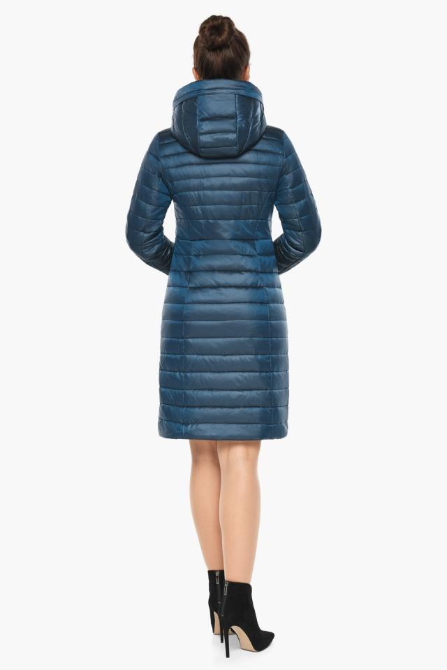 """Удобная женская куртка осенне-весенняя цвет тёмная лазурь модель 68410 Braggart """"Angel's Fluff"""" фото 6"""