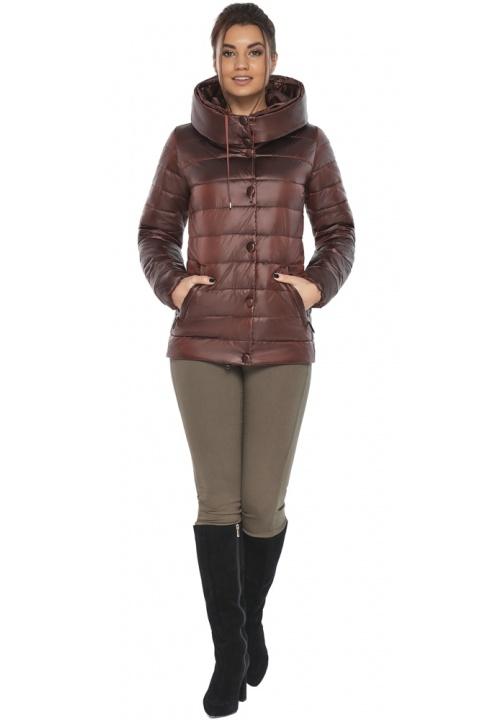 """Куртка каштановая женская осенне-весенняя модель 61030 Braggart """"Angel's Fluff"""" фото 1"""