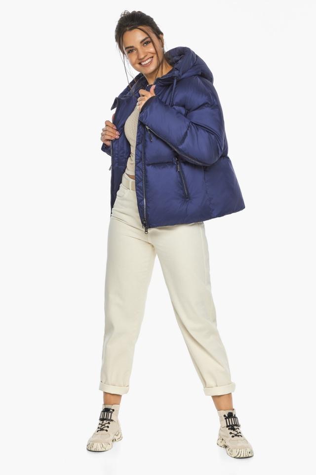 """Куртка на змейке женская цвет синий бархат модель 46280 Braggart """"Angel's Fluff"""" фото 3"""