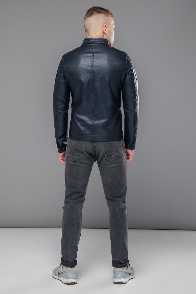 """Темно-синяя куртка короткая осенне-весенняя для мужчин модель 36361 Braggart """"Youth"""" фото 5"""