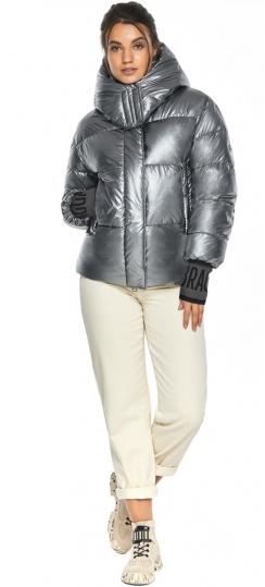 """Женская куртка с манжетами зимняя цвет серебро модель 44520 Braggart """"Angel's Fluff"""" фото 1"""