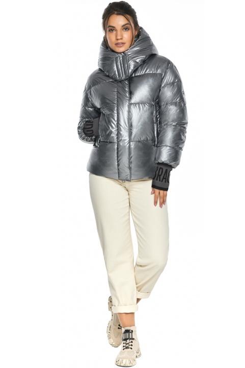 """Жіноча куртка з манжетами зимова колір срібло модель 44520 Braggart """"Angel's Fluff"""" фото 1"""