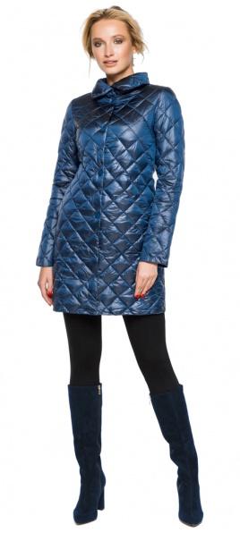 """Куртка с отложным воротником женская цвет темная лазурь модель 20856 Braggart """"Angel's Fluff"""" фото 1"""