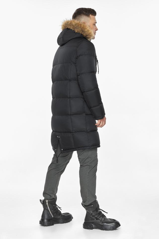 """Модная чёрная зимняя мужская куртка модель 49318 Braggart """"Dress Code"""" фото 7"""
