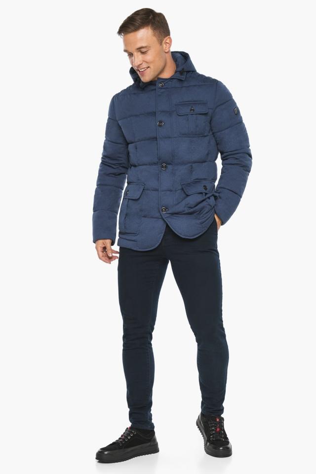 """Куртка – воздуховик зимний с карманами мужской цвета джинс модель 35230 Braggart """"Angel's Fluff Man"""" фото 2"""