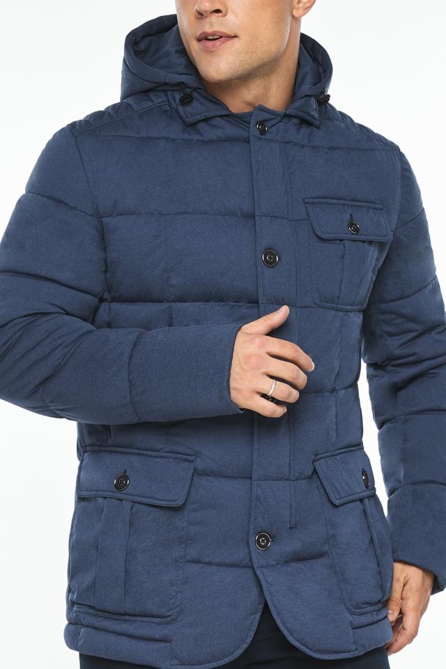 """Куртка – воздуховик зимний с карманами мужской цвета джинс модель 35230 Braggart """"Angel's Fluff Man"""" фото 10"""