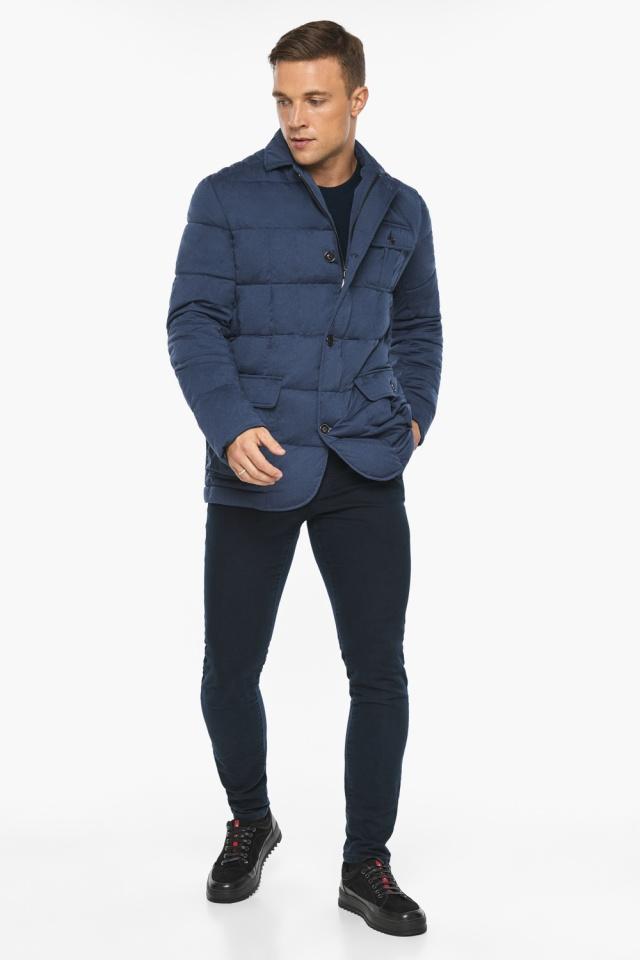 """Куртка – воздуховик зимний с карманами мужской цвета джинс модель 35230 Braggart """"Angel's Fluff Man"""" фото 4"""