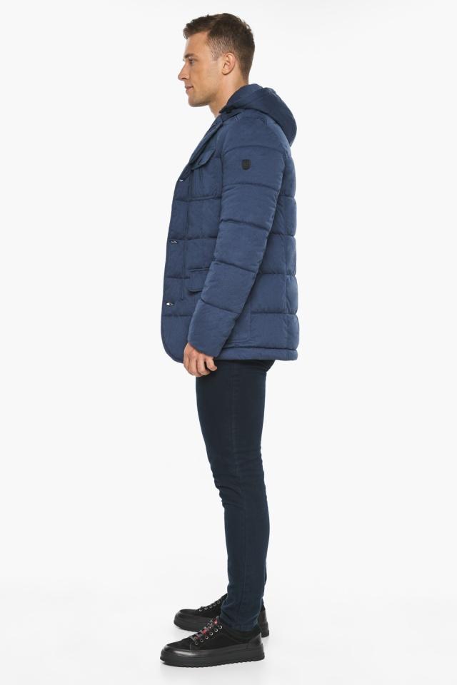 """Куртка – воздуховик зимний с карманами мужской цвета джинс модель 35230 Braggart """"Angel's Fluff Man"""" фото 8"""