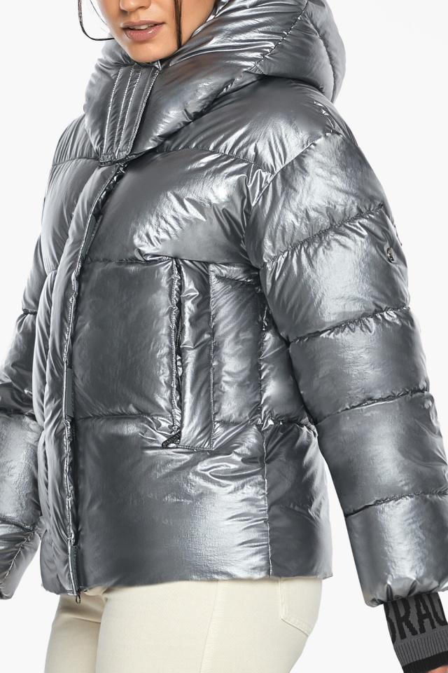 """Жіноча куртка з манжетами зимова колір срібло модель 44520 Braggart """"Angel's Fluff"""" фото 6"""