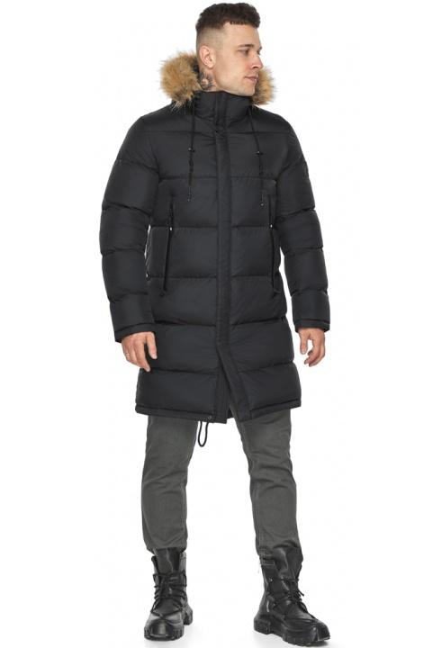 """Модна чорна зимова чоловіча куртка модель 49318 Braggart """"Dress Code"""" фото 1"""