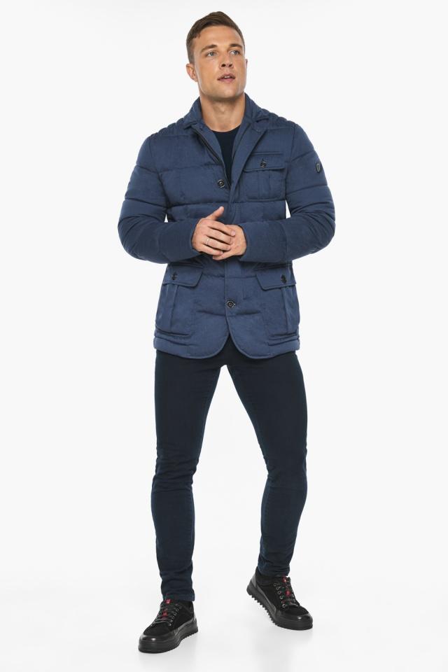 """Куртка – воздуховик зимний с карманами мужской цвета джинс модель 35230 Braggart """"Angel's Fluff Man"""" фото 7"""