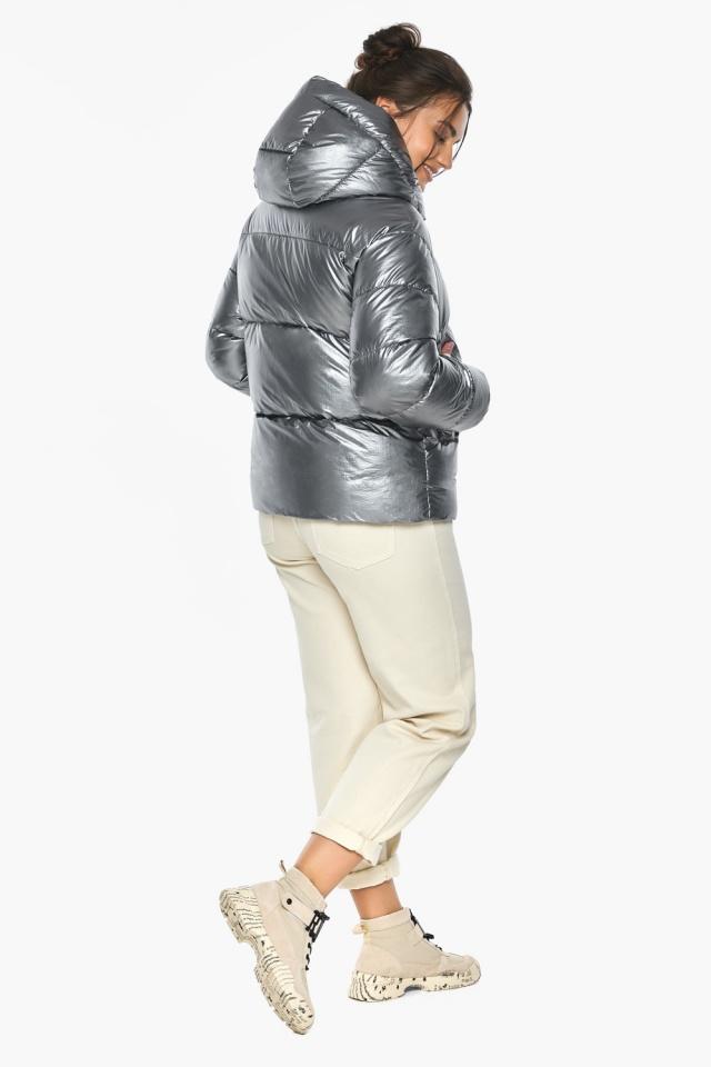 """Жіноча куртка з манжетами зимова колір срібло модель 44520 Braggart """"Angel's Fluff"""" фото 5"""