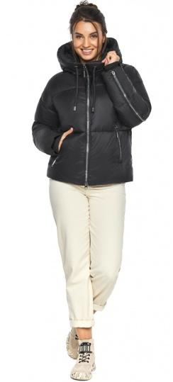 """Куртка женская черная короткая модель 46280 Braggart """"Angel's Fluff"""" фото 1"""