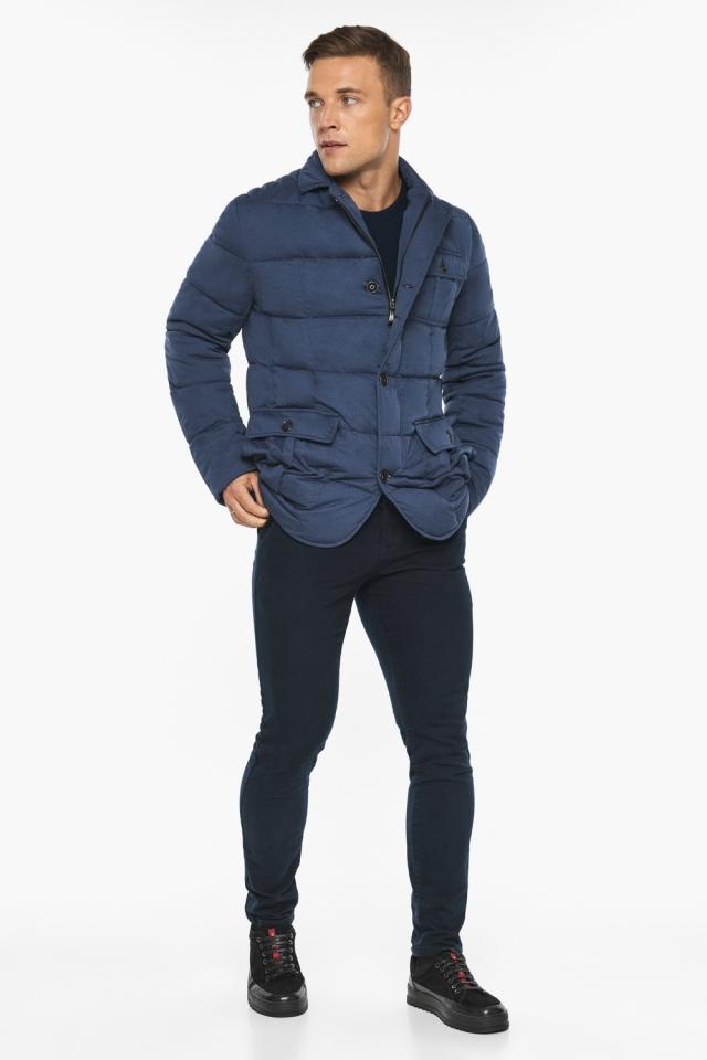 """Куртка – воздуховик зимний с карманами мужской цвета джинс модель 35230 Braggart """"Angel's Fluff Man"""" фото 5"""