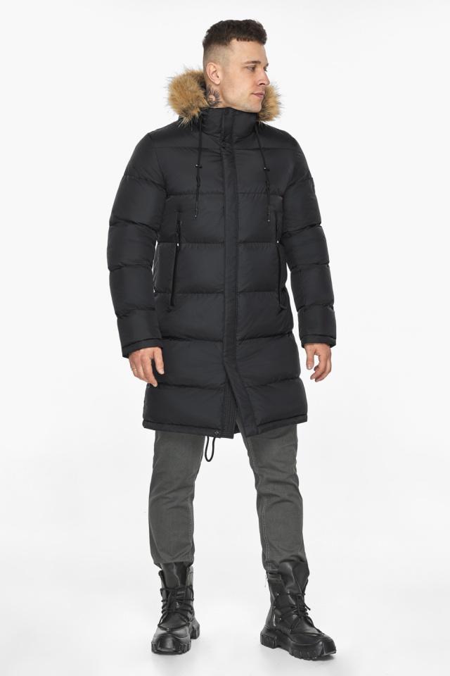 """Модная чёрная зимняя мужская куртка модель 49318 Braggart """"Dress Code"""" фото 2"""