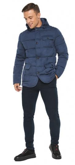 """Куртка – воздуховик зимний с карманами мужской цвета джинс модель 35230 Braggart """"Angel's Fluff Man"""" фото 1"""