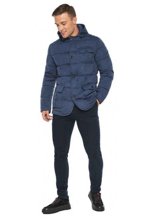 """Куртка – воздуховик зимовий із кишенями чоловічий кольору джинс модель 35230 Braggart """"Angel's Fluff Man"""" фото 1"""