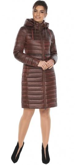 """Куртка люксовая женская каштановая весенняя модель 68410 Braggart """"Angel's Fluff"""" фото 1"""