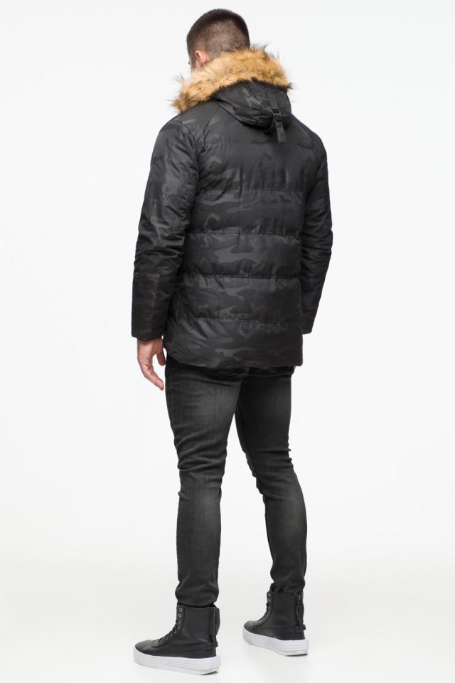 """Чорна зимова чоловіча куртка з коміром модель 25310 Braggart """"Youth"""" фото 6"""