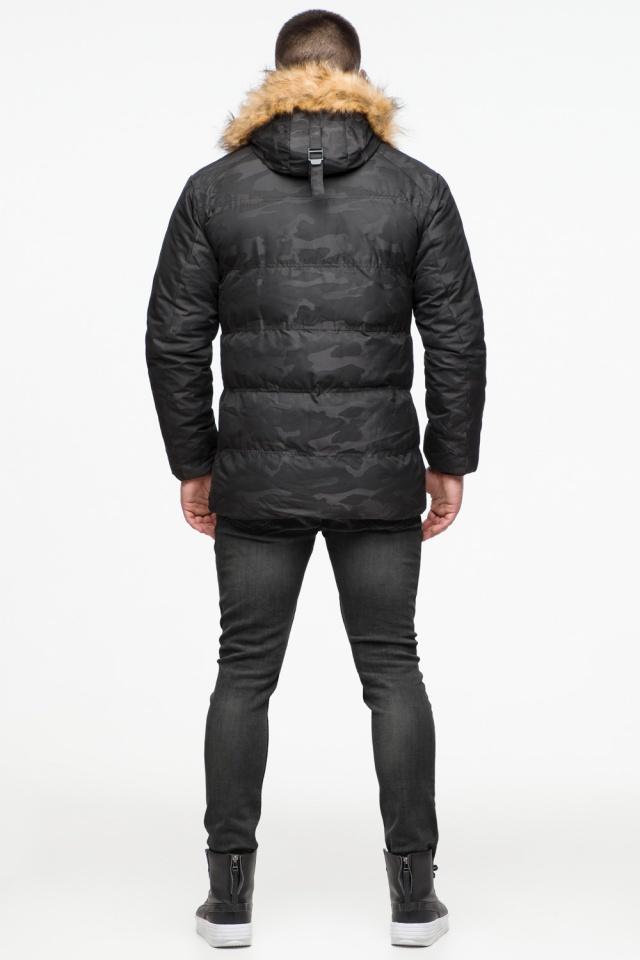 """Чорна зимова чоловіча куртка з коміром модель 25310 Braggart """"Youth"""" фото 7"""