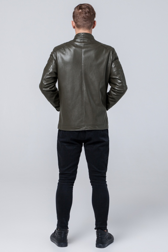 "Осенне-весенняя куртка цвета хаки мужская молодежная модель 4129 Braggart ""Youth"" фото 5"