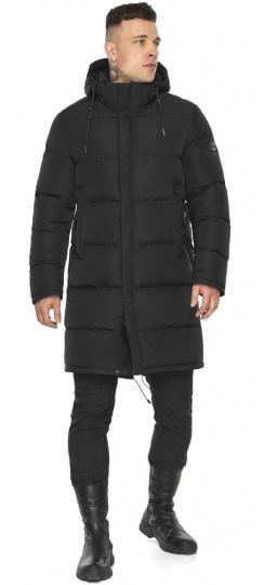 """Мужская куртка с глубокими карманами зимняя чёрная модель 49609 Braggart """"Dress Code"""" фото 1"""