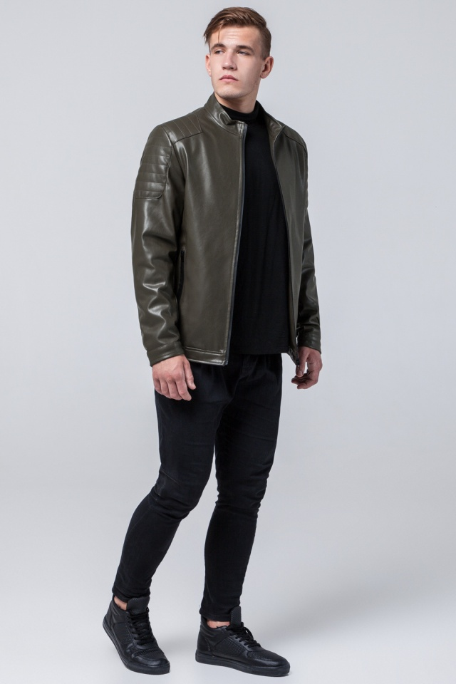 "Осенне-весенняя куртка цвета хаки мужская молодежная модель 4129 Braggart ""Youth"" фото 3"