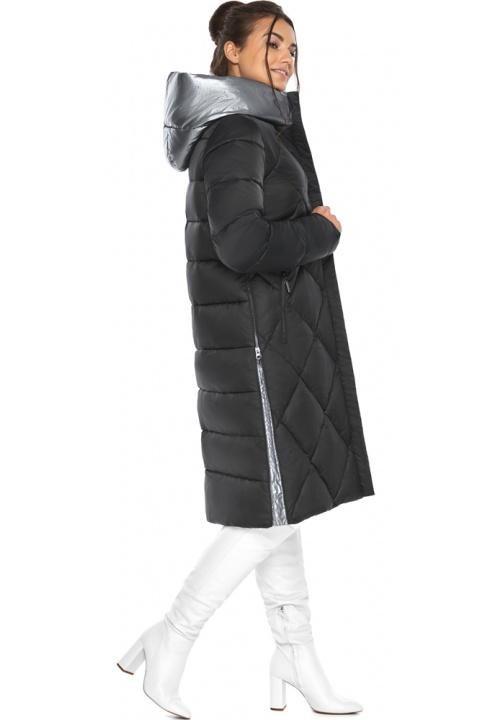 "Жіноча чорна куртка стьобана модель 46510 Braggart ""Angel's Fluff"" фото 1"